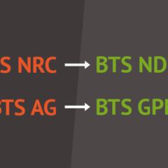 Refonte des BTS NRC devient NDRC, BTS AG devient GPME