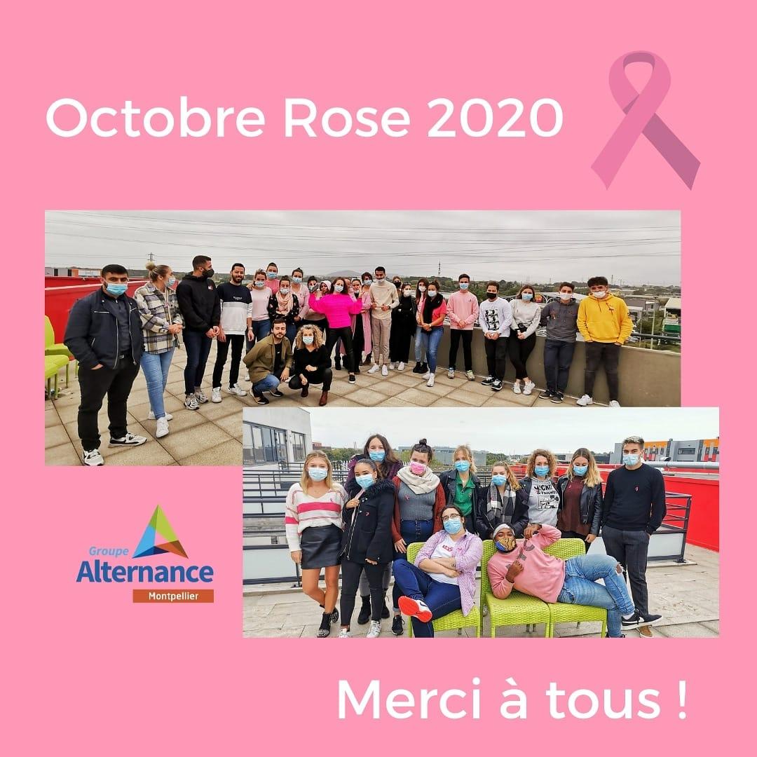 Groupe Alternance Montpellier étudiands Octobre rose lutte contre le cancer du sein